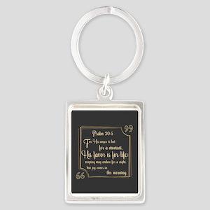 Bible Verse Gift Psalm 30:5 Portrait Keychain