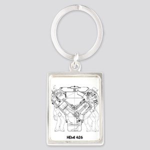 V8 Engine Keychains