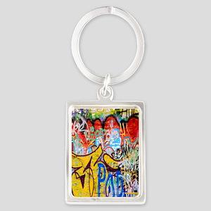 Colorful Graffiti Portrait Keychain