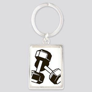 Fitness Dumbbells Keychains