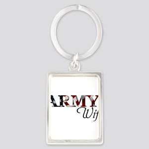 Wife Army_flag Keychains