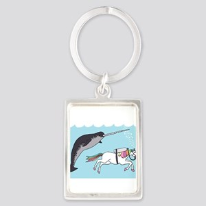 Narwhal Swimming With Unicorn Keychains