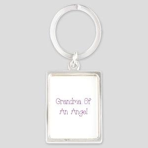 Grandma of an Angel Portrait Keychain