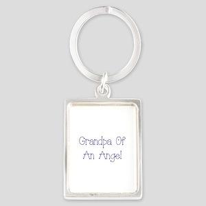Grandpa of an Angel Portrait Keychain