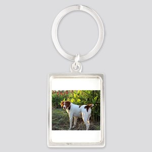Tropical Pointing Brittany Keychains
