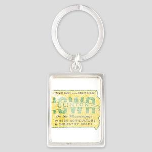 Vintage Clinton Iowa Keychains