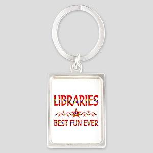 Libraries Best Fun Portrait Keychain