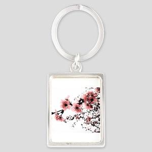 Cherry Blossoms Portrait Keychain