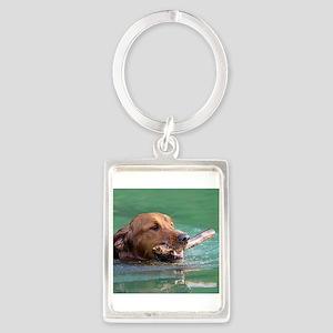 Happy Retriever Dog Keychains