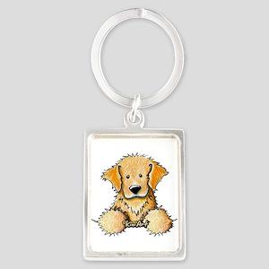 Pocket Golden Retriever Portrait Keychain