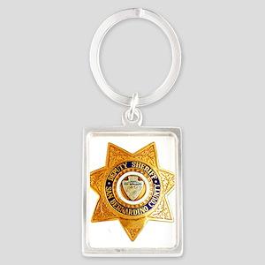San Bernardino County Sheriff Portrait Keychain