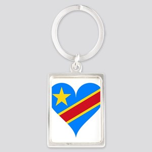 Heart Flag of Democratic Republic of the Keychains