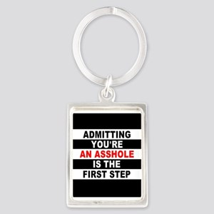 AA The First Step is... Portrait Keychain