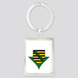 Heart German Saxony Coat of Arms Keychains