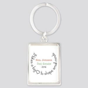 Personalized Big Hearted Teacher Keychains