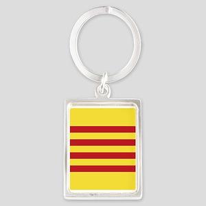 Catalunya: Catalan Flag Portrait Keychain