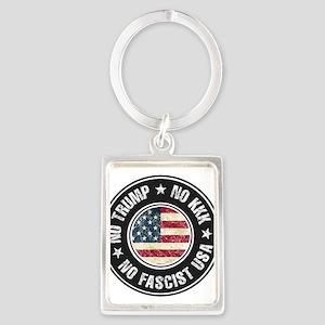 No Trump No KKK No Fascist USA Keychains