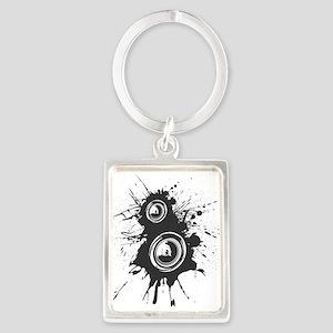 Speaker Splatter DJ Portrait Keychain