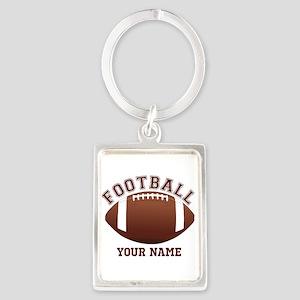 Personalized Name Footbal Portrait Keychain