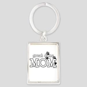 Great Dane Mom Keychains