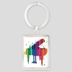 Paint Splash Piano Keychains
