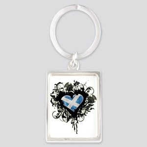 Scottish Heart Portrait Keychain