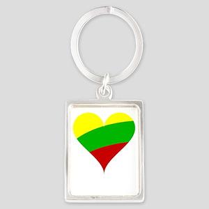 Heart Flag of Lithuania Keychains