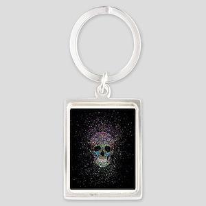 Glitter ColorSkull Keychains