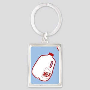 Milk Jugs Pattern Portrait Keychain