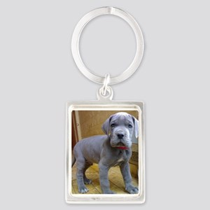 great dane blue puppy ls Keychains