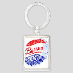 Vintage Buffalo Hockey Portrait Keychain