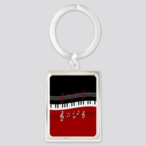 Stylish Piano keys and musical notes Keychains