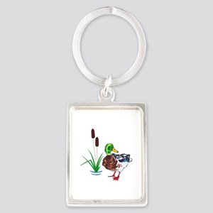 MALLARD AND CATTAILS Keychains