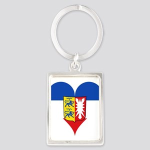 Heart German Mecklenburg Coat of Arms Keychains