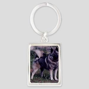 norwegian elkhound full 3 Keychains