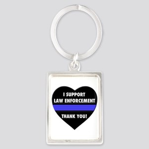 I Support Law Enforcement Keychains
