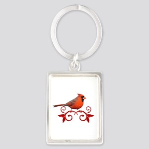 Beautiful Cardinal Portrait Keychain