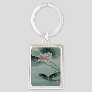 Koi Fish Cute Portrait Keychain