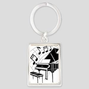 PianoNotes10x10 Portrait Keychain