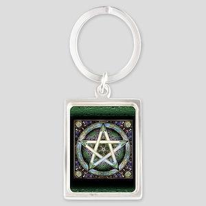 Pentagram Portrait Keychain