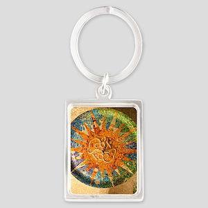 Park Guell Barcelona Portrait Keychain