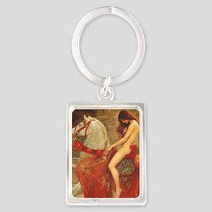Lady Godiva Portrait Keychain