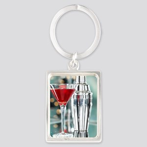 Red Martini Portrait Keychain