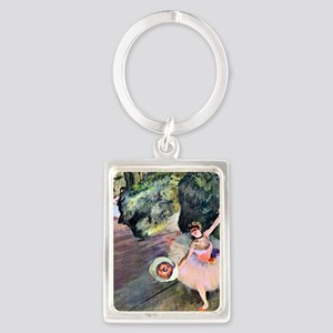 Edgar Degas Dancer With Flowers Portrait Keychain
