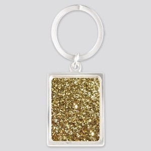 Realistic Gold Sparkle Glitter Keychains