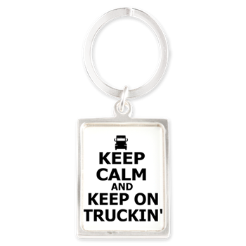 Keep Calm and Keep Truckin' Portrait Keychain > Keep Calm
