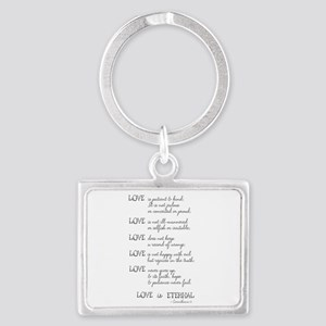 Love is Patient Verse Landscape Keychain