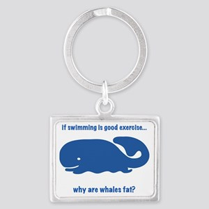 fat whales Landscape Keychain