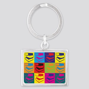 Library Work Pop Art Landscape Keychain