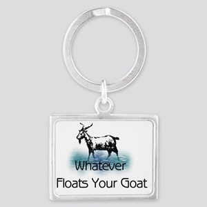 Whatever Floats Your Goat Landscape Keychain